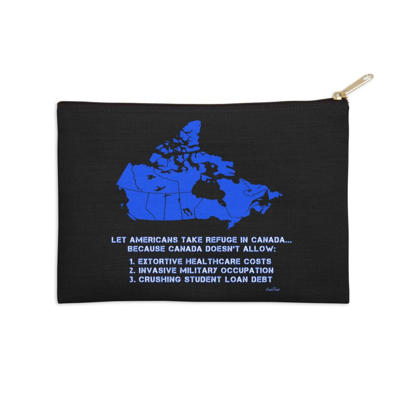 Americans Take Refuge Canada Accessories Zip Pouch by Leading Artist Shop