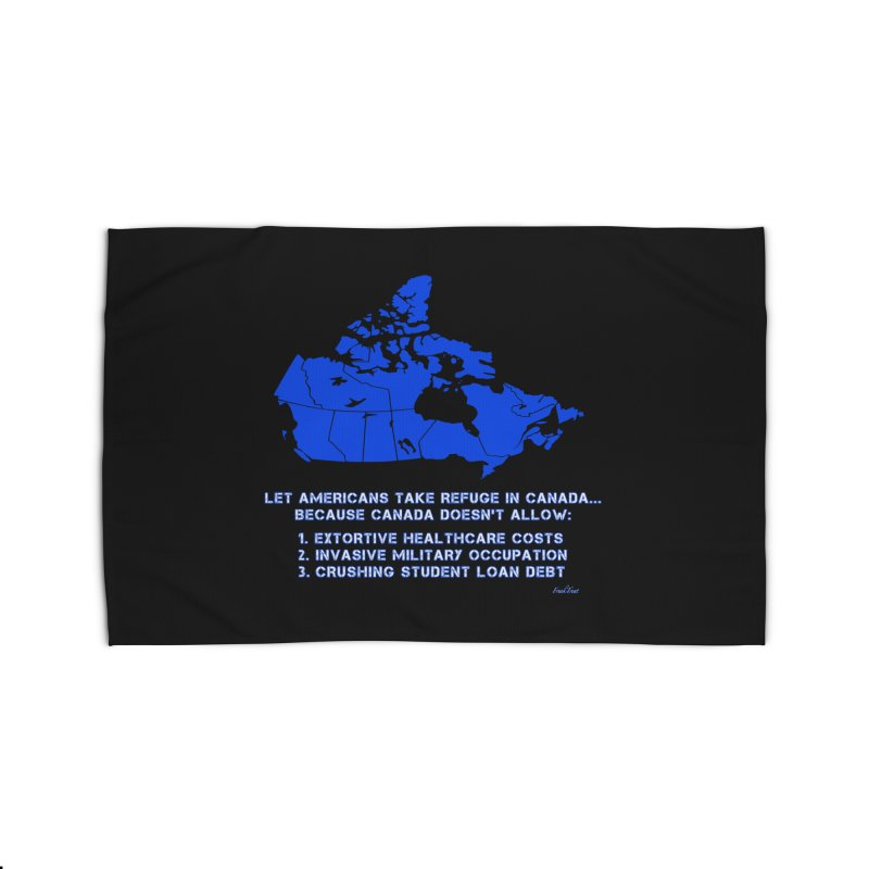 Americans Take Refuge Canada Home Rug by Leading Artist Shop