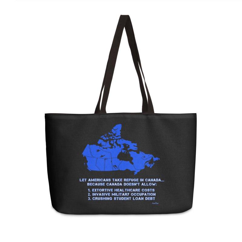 Americans Take Refuge Canada Accessories Weekender Bag Bag by Leading Artist Shop