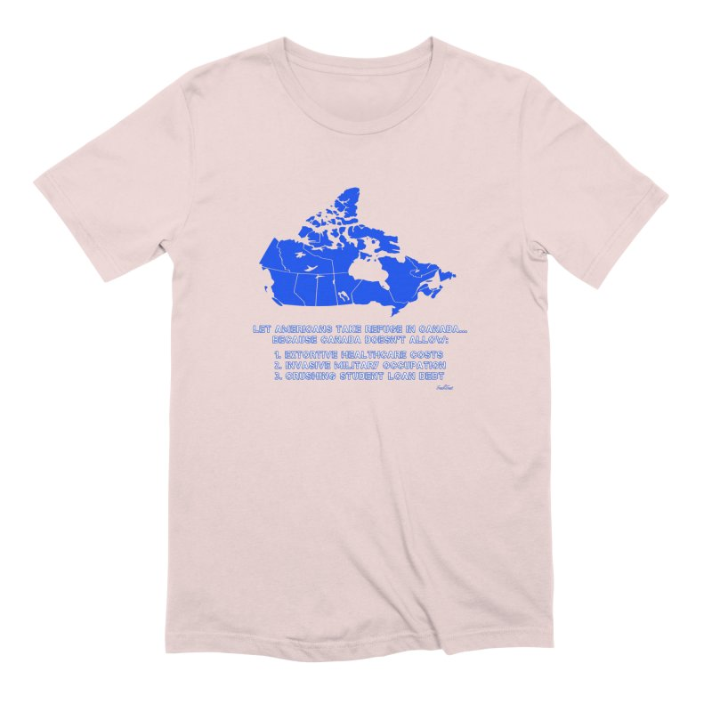 Americans Take Refuge Canada Men's Extra Soft T-Shirt by Leading Artist Shop