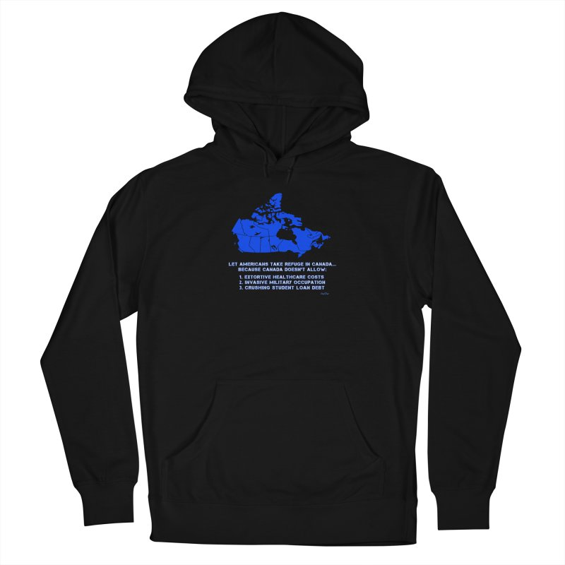 Americans Take Refuge Canada Women's French Terry Pullover Hoody by Leading Artist Shop