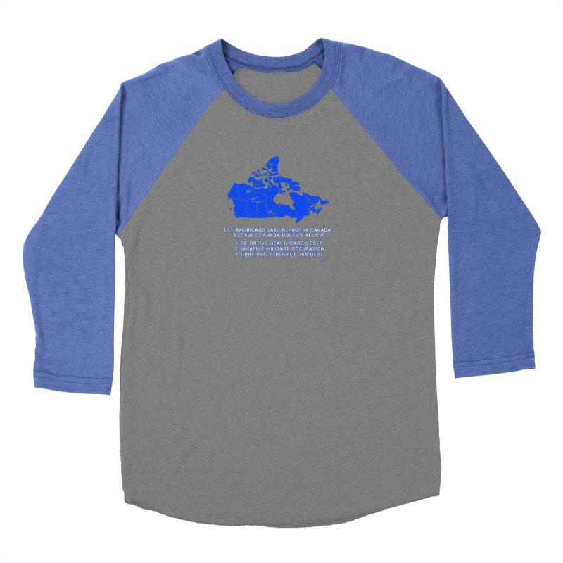 Americans Take Refuge Canada Men's Baseball Triblend Longsleeve T-Shirt by Leading Artist Shop