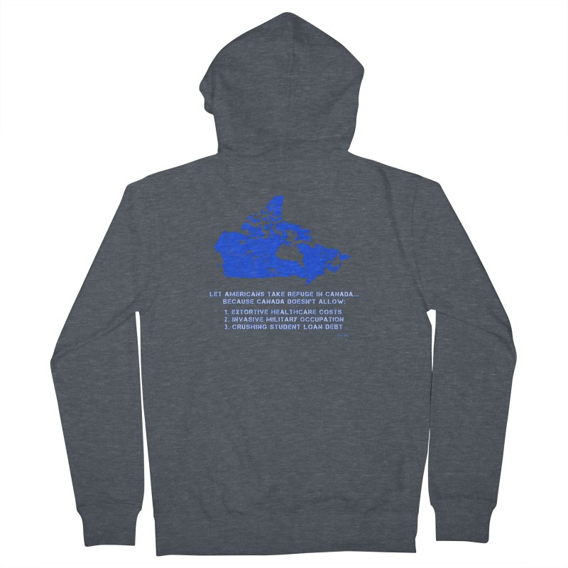 Americans Take Refuge Canada Men's French Terry Zip-Up Hoody by Leading Artist Shop