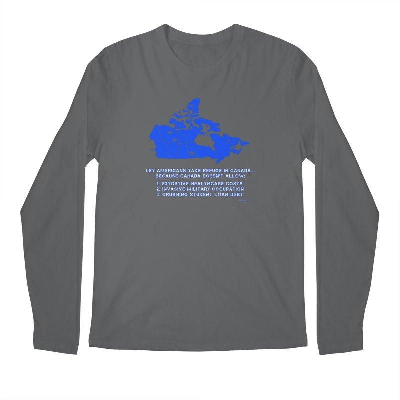 Americans Take Refuge Canada Men's Regular Longsleeve T-Shirt by Leading Artist Shop
