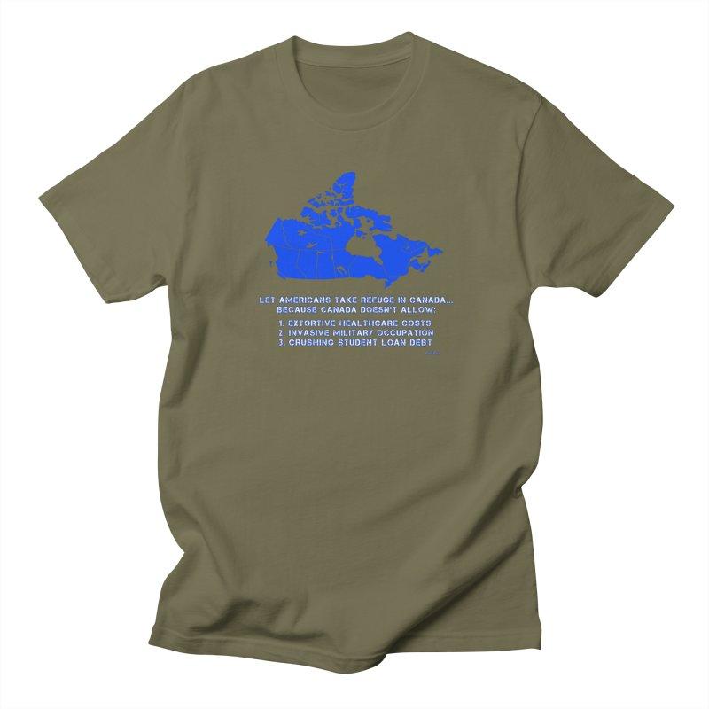 Americans Take Refuge Canada Women's Regular Unisex T-Shirt by Leading Artist Shop