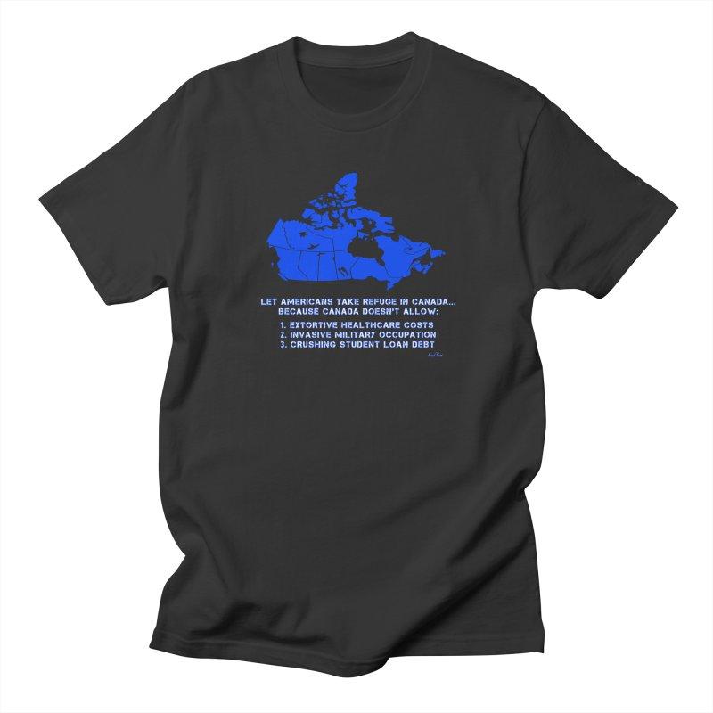 Americans Take Refuge Canada Men's Regular T-Shirt by Leading Artist Shop