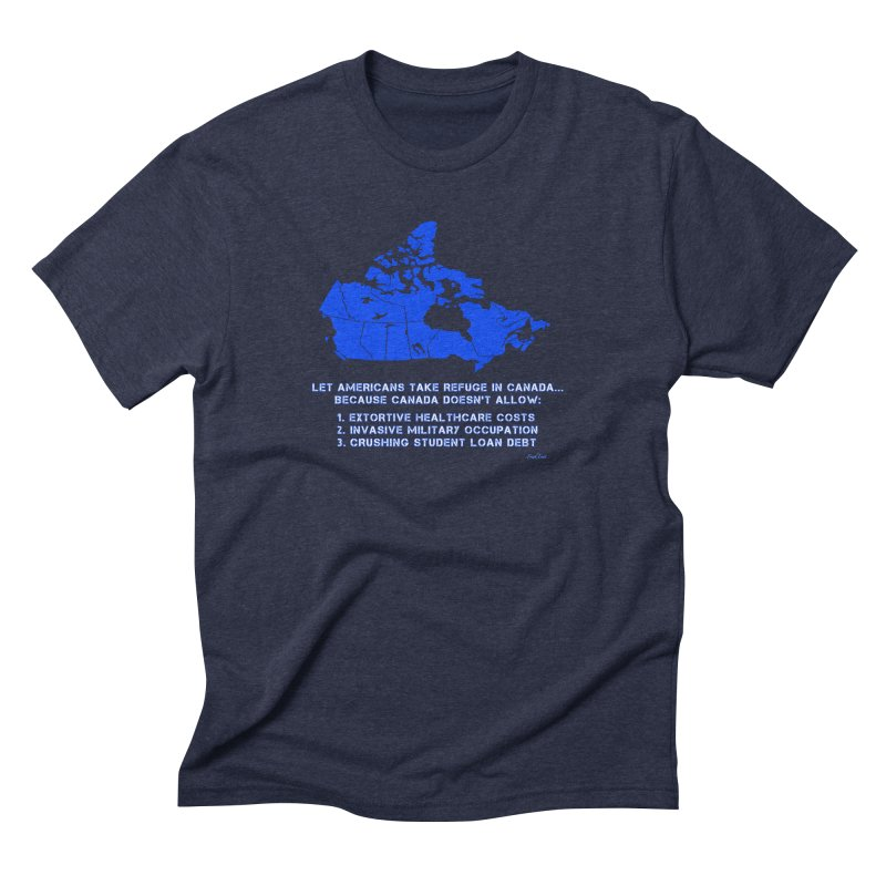 Americans Take Refuge Canada Men's Triblend T-Shirt by Leading Artist Shop