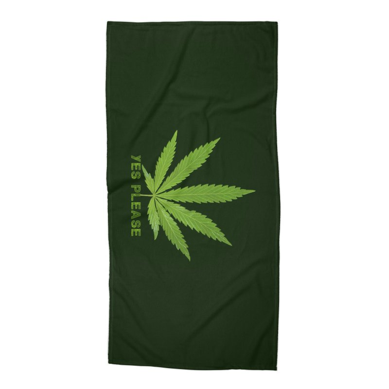Yes Please Accessories Beach Towel by Leading Artist Shop