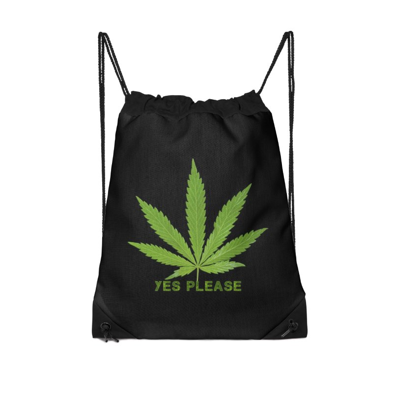 Yes Please Accessories Drawstring Bag Bag by Leading Artist Shop