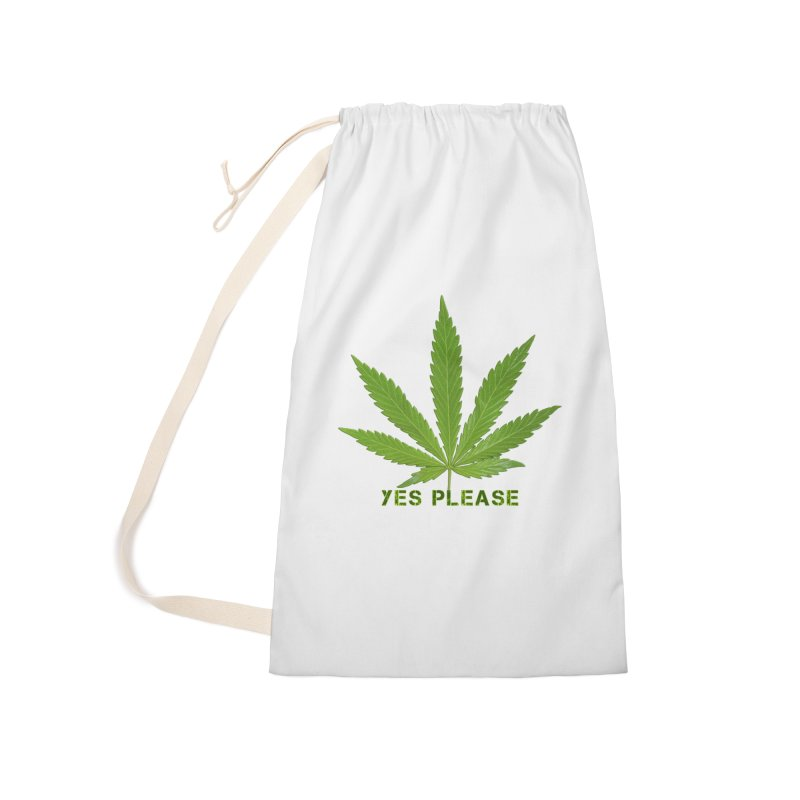 Yes Please Accessories Laundry Bag Bag by Leading Artist Shop