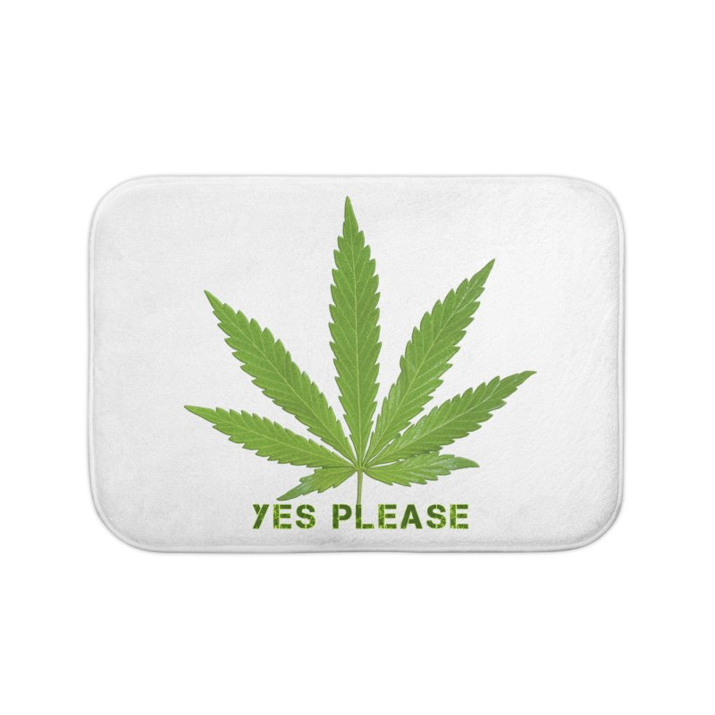 Yes Please Home Bath Mat by Leading Artist Shop
