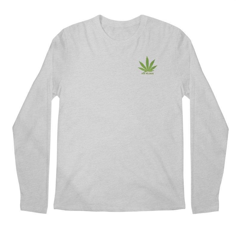 Yes Please Men's Regular Longsleeve T-Shirt by Leading Artist Shop