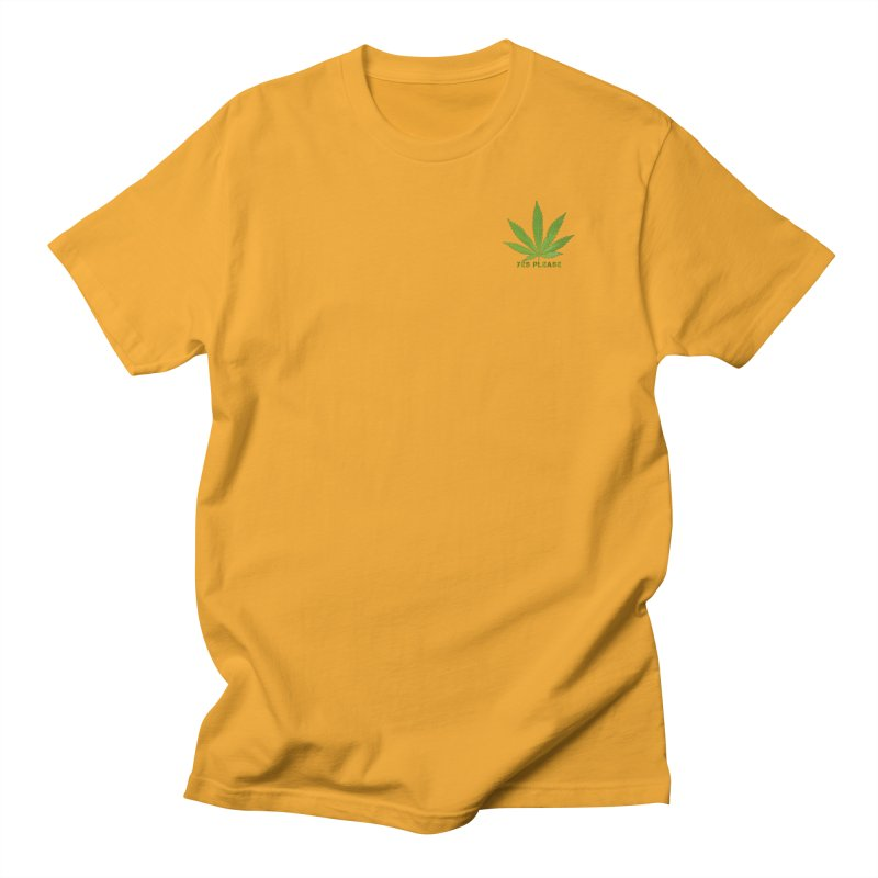 Yes Please Men's Regular T-Shirt by Leading Artist Shop