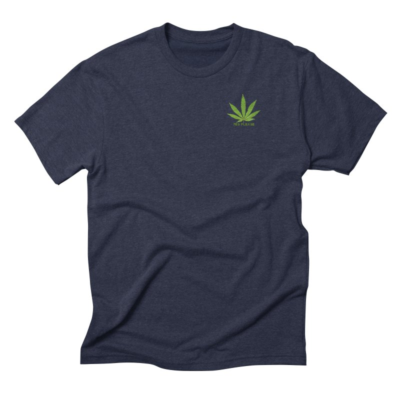 Yes Please Men's Triblend T-Shirt by Leading Artist Shop