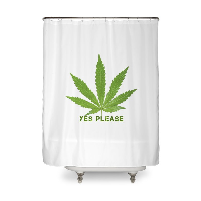 Yes Please Home Shower Curtain by Leading Artist Shop