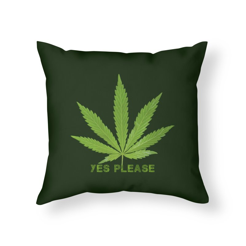 Yes Please Home Throw Pillow by Leading Artist Shop