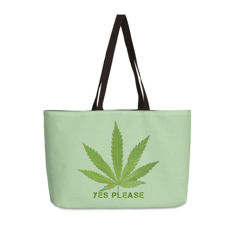 Yes Please Accessories Weekender Bag Bag by Leading Artist Shop
