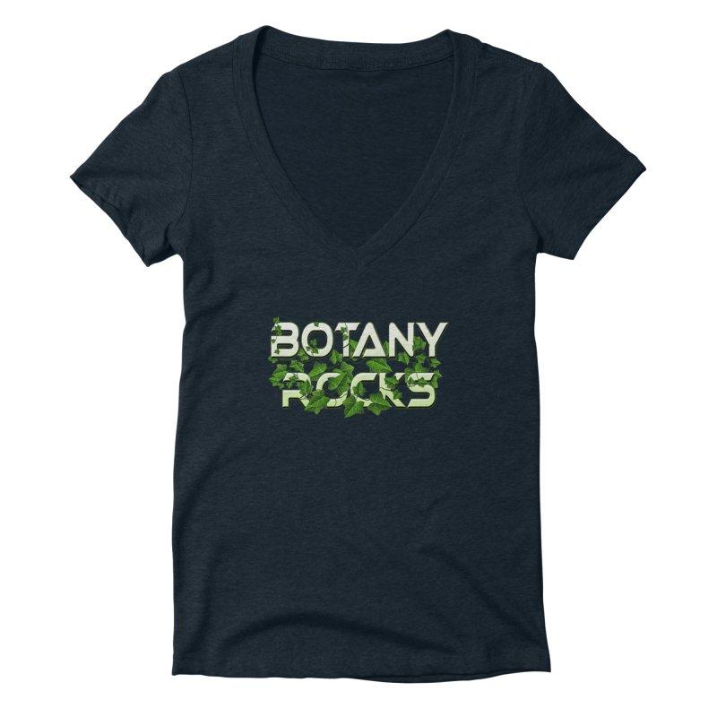 Botany Rocks Women's Deep V-Neck V-Neck by Leading Artist Shop
