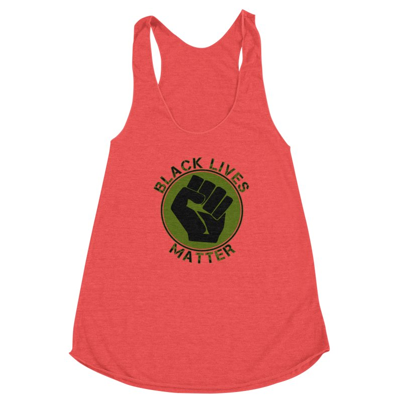 Black Lives Matter With Fist Women's Tank by Leading Artist Shop