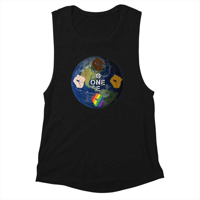 BLM One Earth Women's Tank by Leading Artist Shop