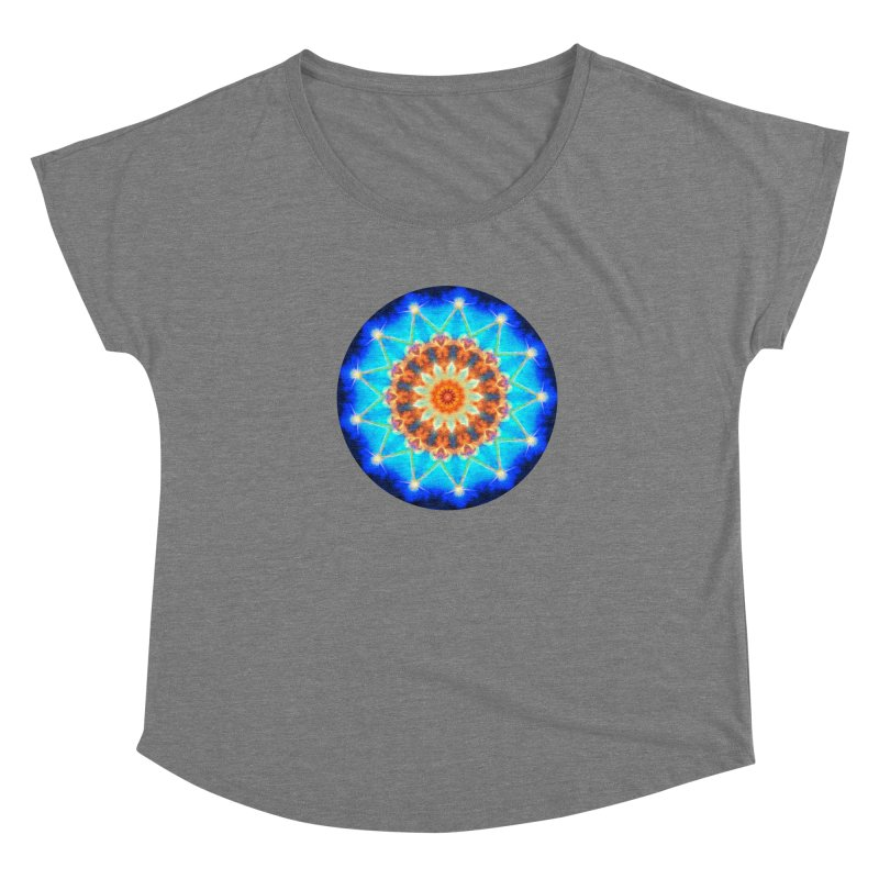 Mandala Twisted Space Women's Scoop Neck by Leading Artist Shop