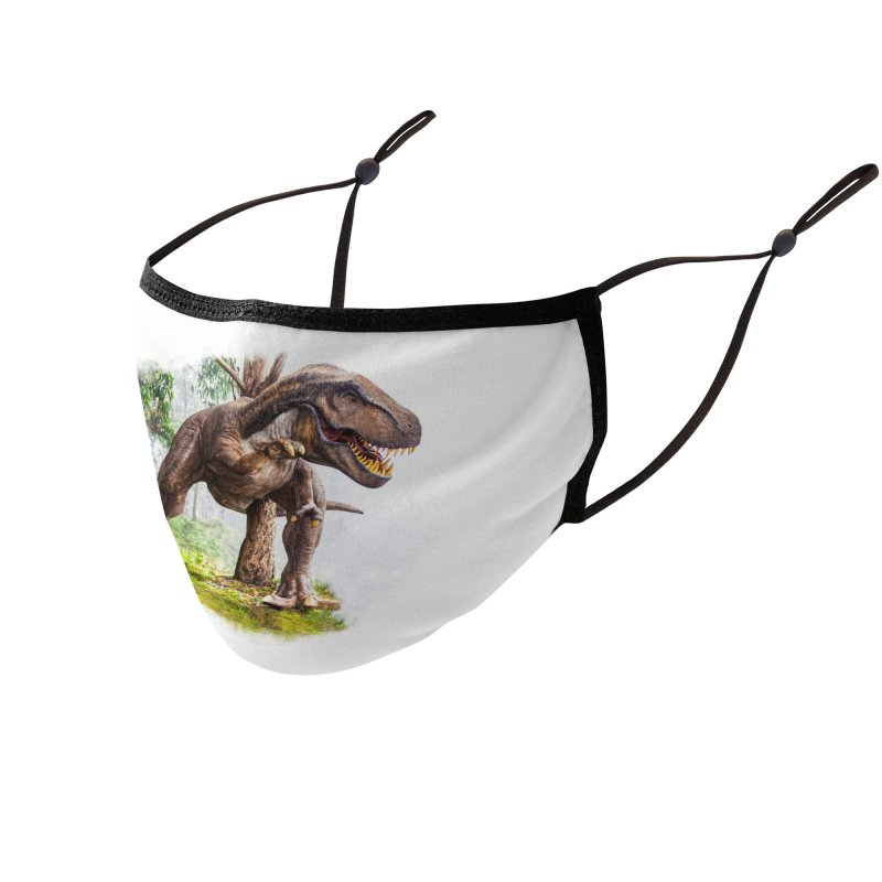 T-Rex Dinosaur Phone Cases, Tote Bags, Stickers, & More Face Mask by Leading Online Shopping