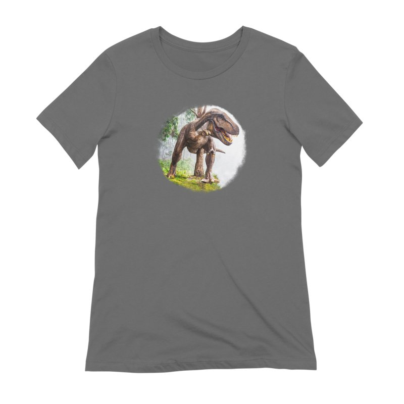 T-Rex Dinosaur Women's T-Shirt by Leading Artist Shop