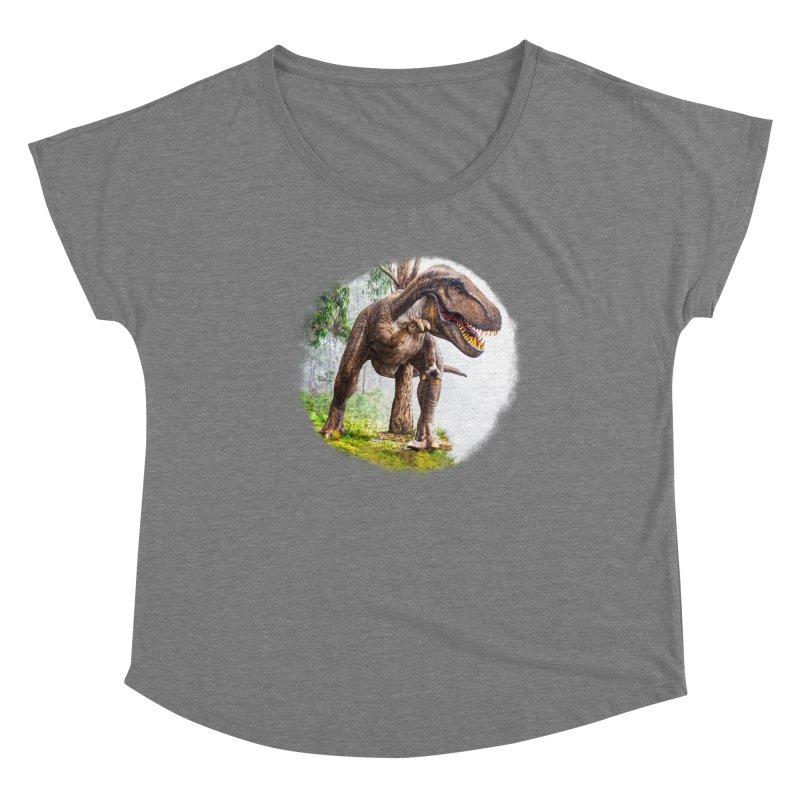 T-Rex Dinosaur Women's Scoop Neck by Leading Artist Shop