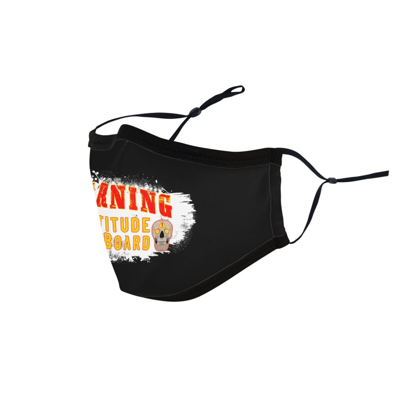 Attitude Warning Accessories Face Mask by Leading Artist Shop