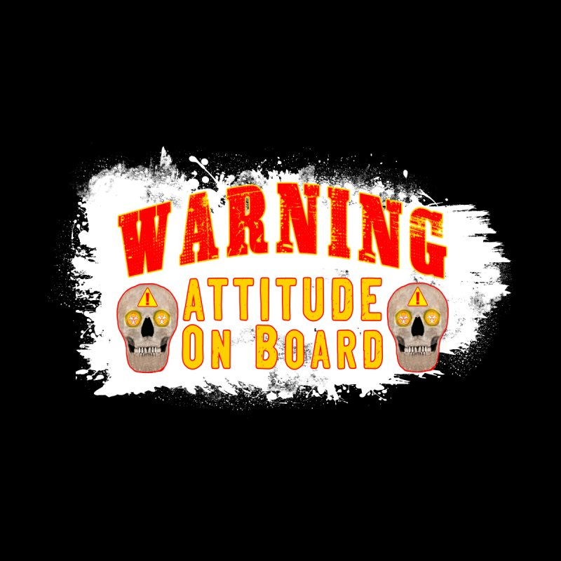 Attitude Warning Accessories Neck Gaiter by Leading Artist Shop