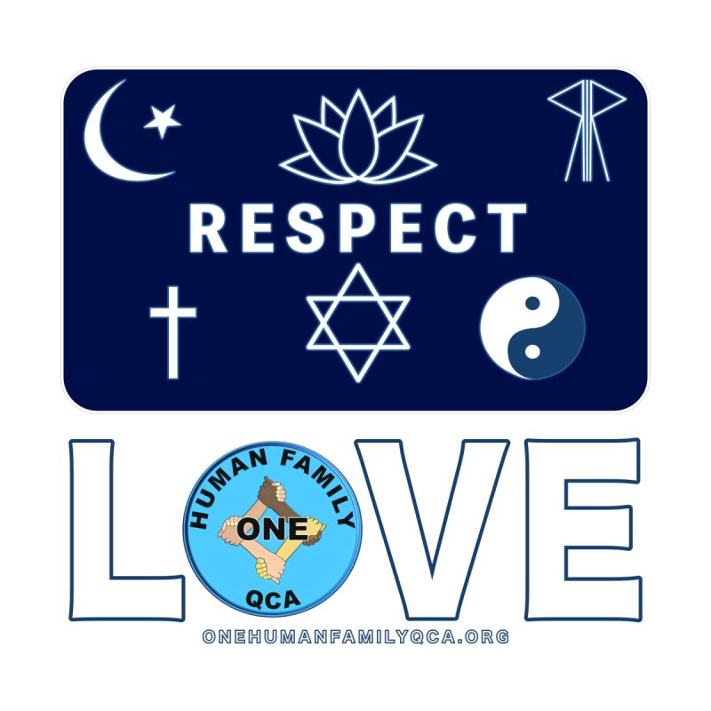One Human Family QCA Respect Mens Shirt Styles T-Shirt by Leading Online Shopping