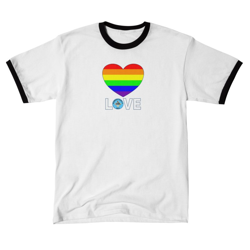 LGBT Pride Rainbow Heart Women's Shirt Styles T-Shirt by Leading Online Shopping