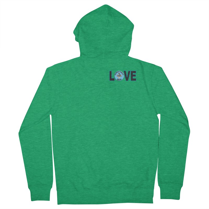 Love One Human Family Men's Zip-Up Hoody by Leading Artist Shop