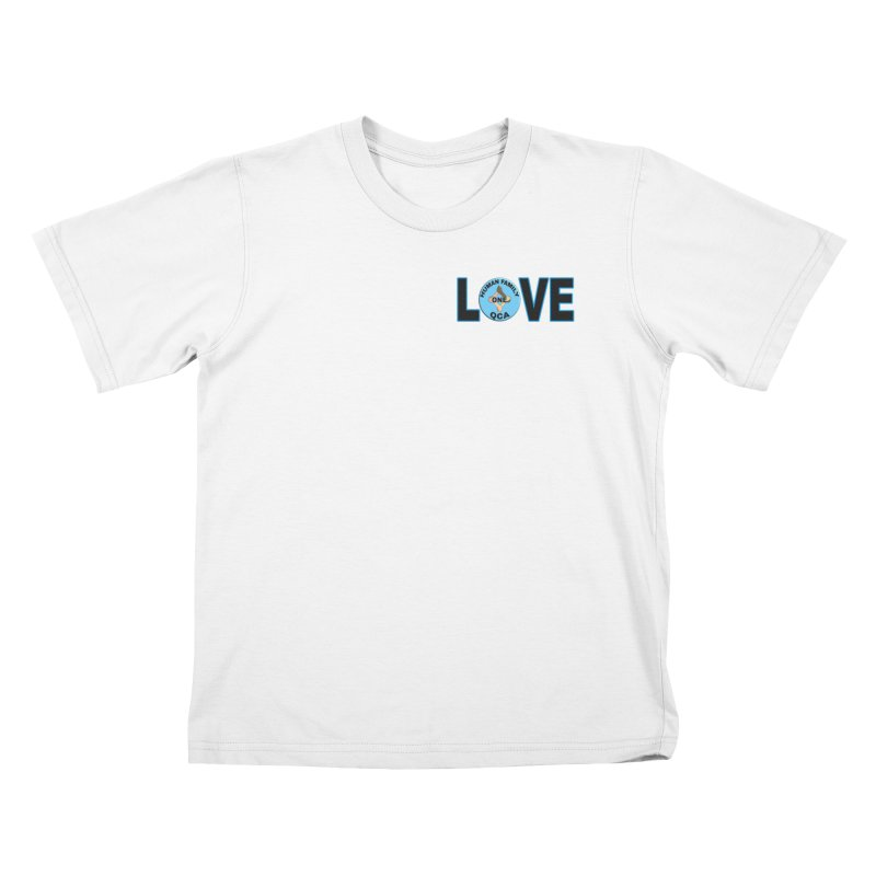 Love One Human Family Kids T-Shirt by Leading Artist Shop