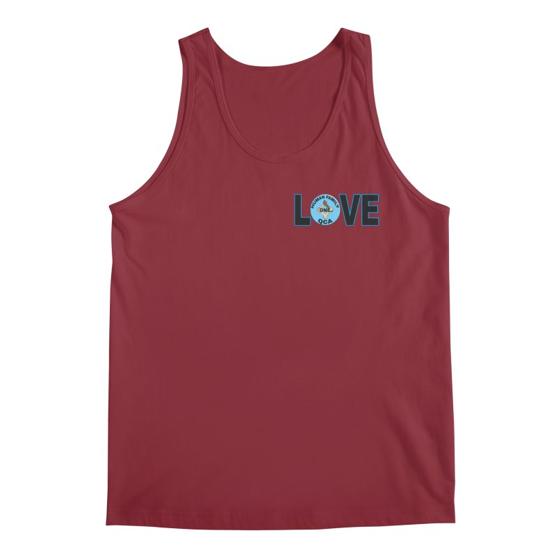 Love One Human Family Men's Tank by Leading Artist Shop
