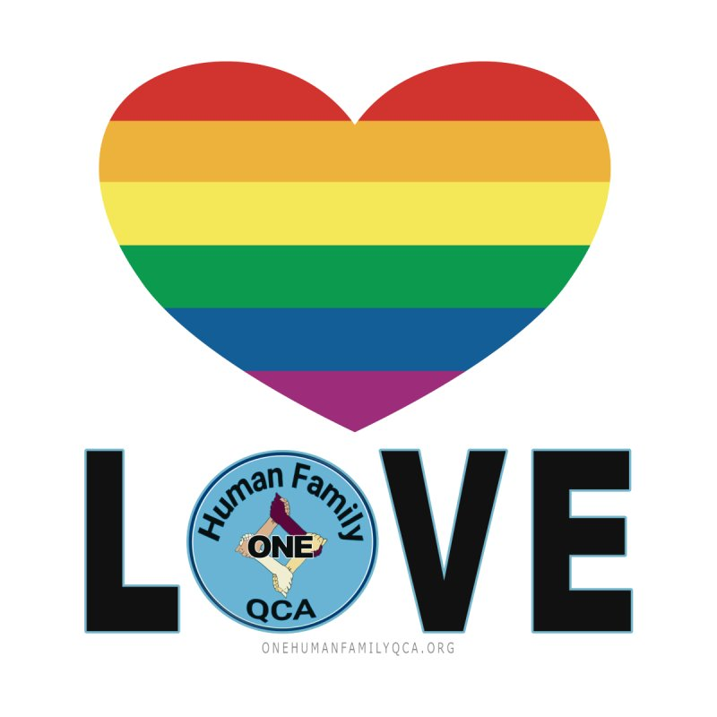 Love Rainbow Heart LGBT Shirts by Leading Artist Shop