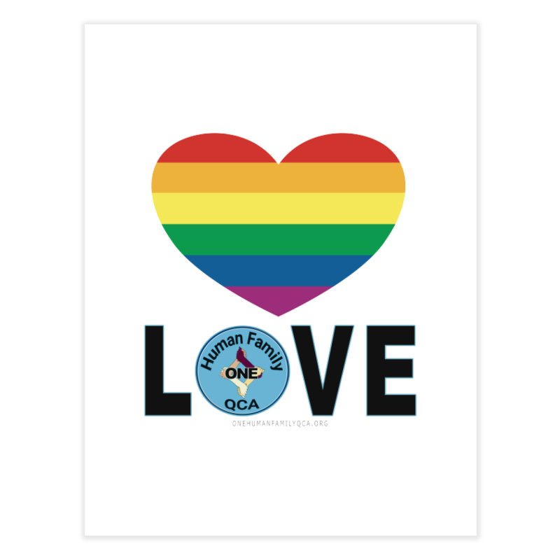 Love Rainbow Heart LGBT Shirts Home Fine Art Print by Leading Artist Shop