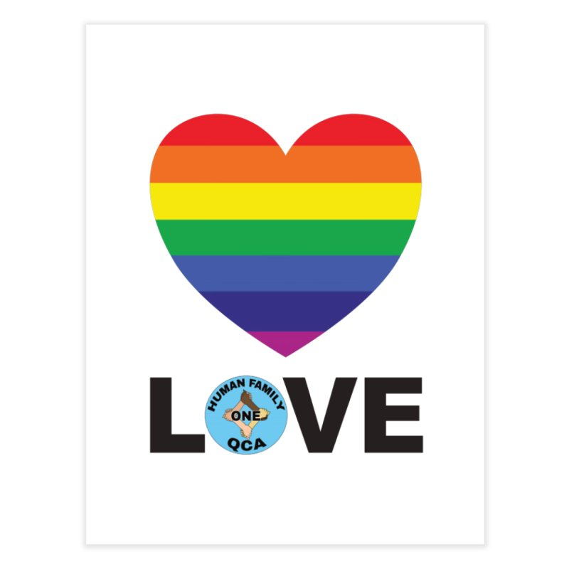 Love With Rainbow Heart Home Fine Art Print by Leading Artist Shop