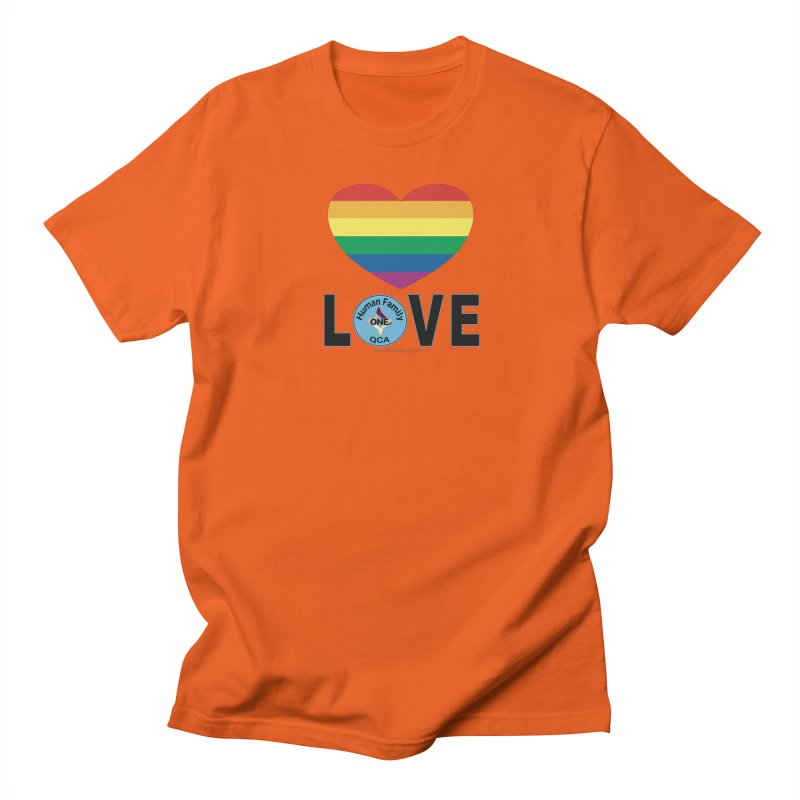 Love Rainbow Heart LGBT Shirts Men's T-Shirt by Leading Artist Shop