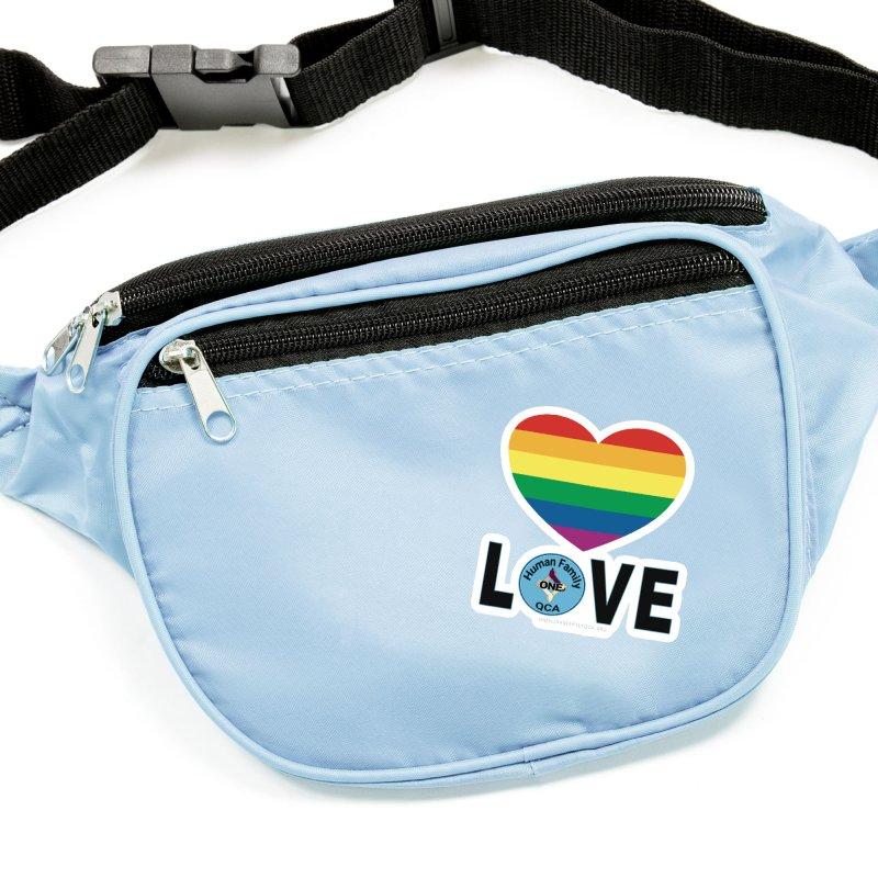 Love Rainbow Heart LGBT Shirts Accessories Sticker by Leading Artist Shop