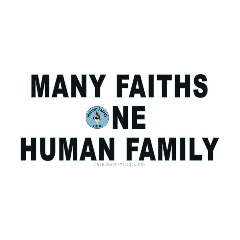 Many Faiths One Human Family Men's T-Shirt by Leading Artist Shop