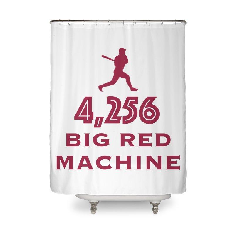 Big Red Machine Home Shower Curtain by leaguegear's Artist Shop