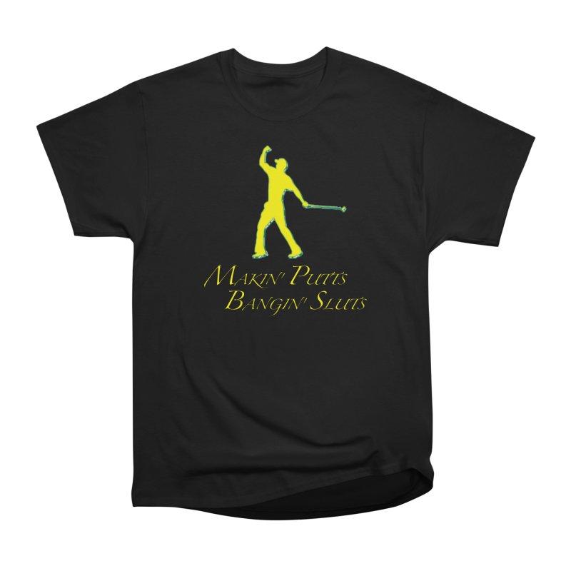 Tiger Putt (yellow) Men's T-Shirt by leaguegear's Artist Shop