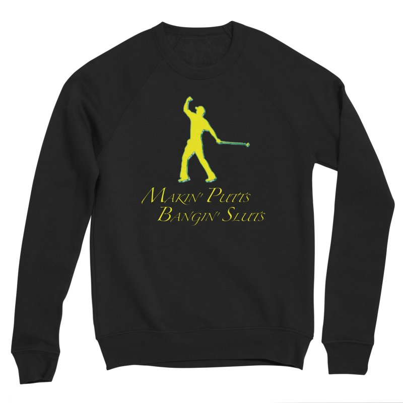 Tiger Putt (yellow) Men's Sweatshirt by leaguegear's Artist Shop