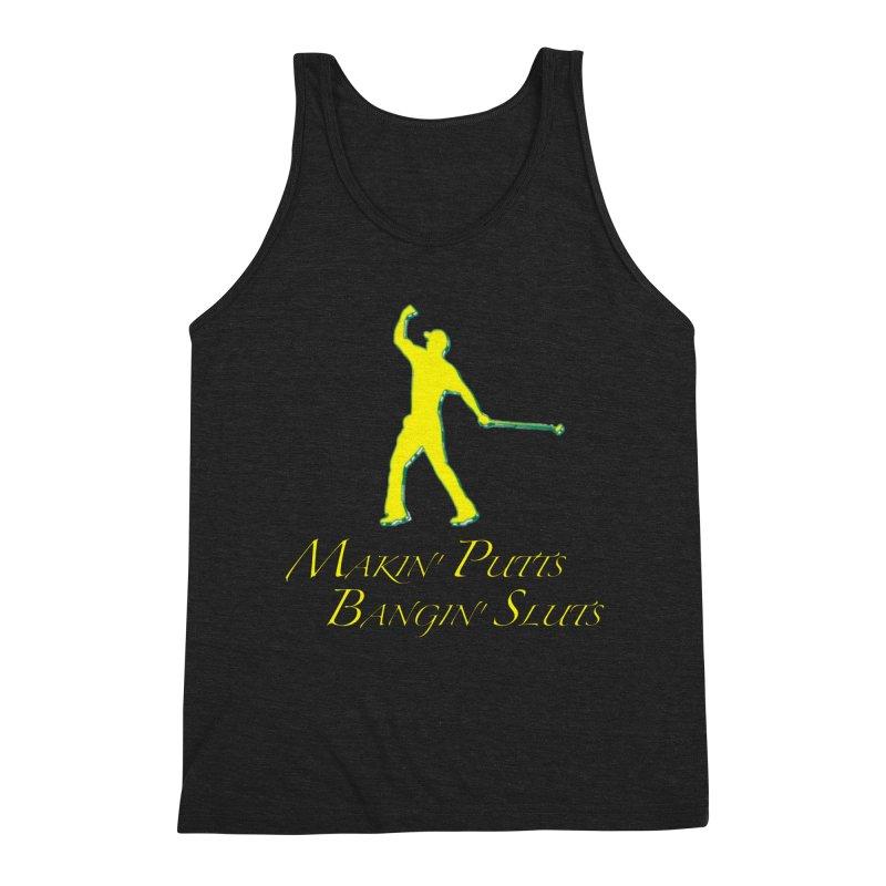 Tiger Putt (yellow) Men's Tank by leaguegear's Artist Shop