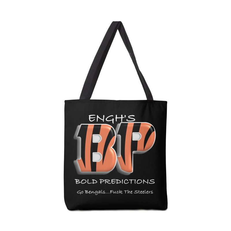 Enghs Bold Predictions White Accessories Bag by leaguegear's Artist Shop