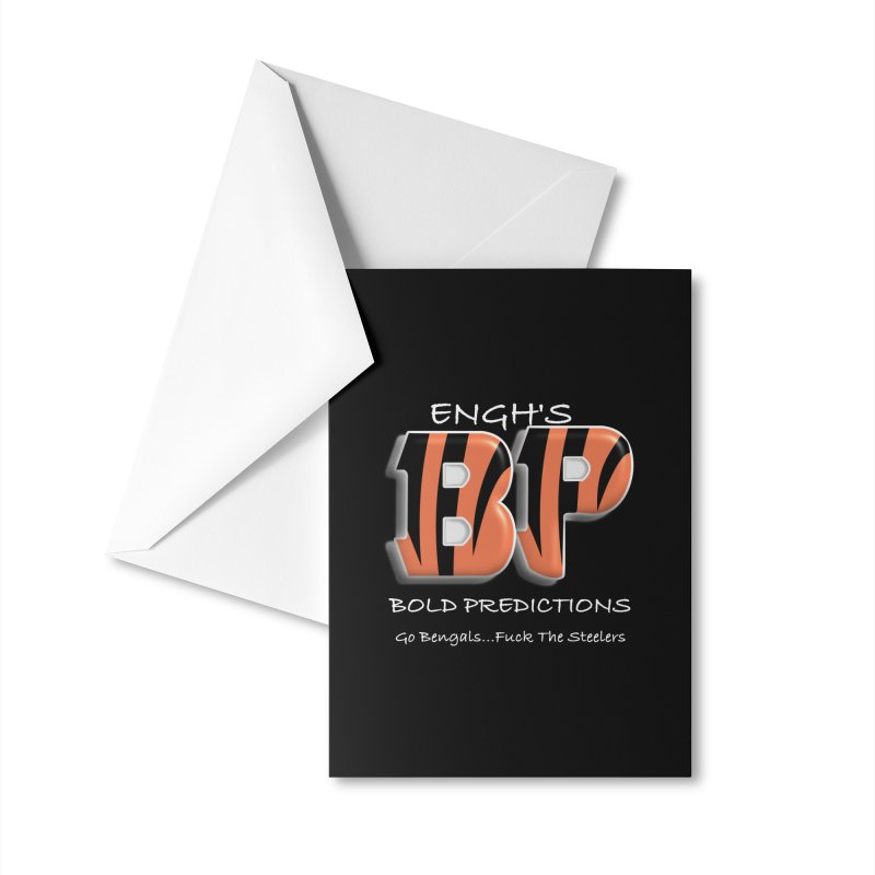 Enghs Bold Predictions White Accessories Greeting Card by leaguegear's Artist Shop