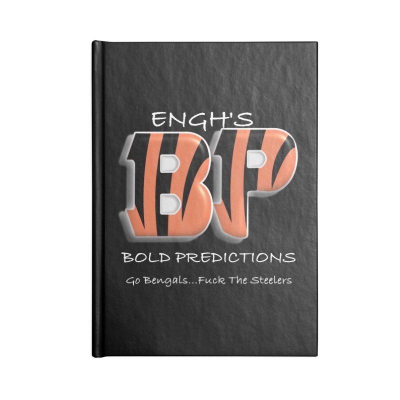 Enghs Bold Predictions White Accessories Notebook by leaguegear's Artist Shop