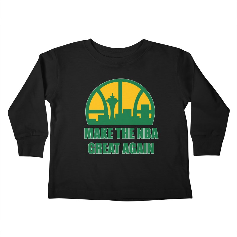 Make The NBA Great Again Kids Toddler Longsleeve T-Shirt by leaguegear's Artist Shop