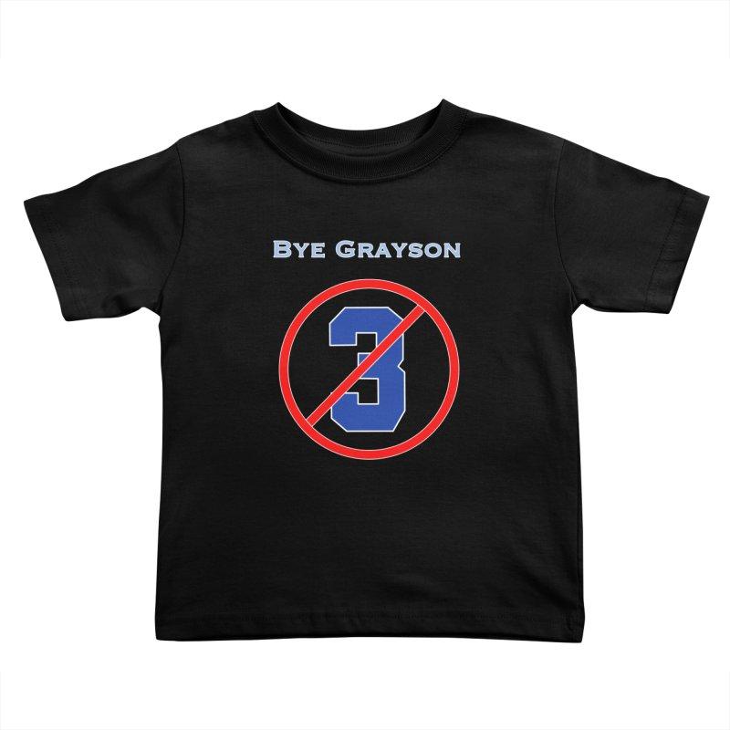 Bye Grayson #3 Kids Toddler T-Shirt by leaguegear's Artist Shop